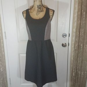 The Limited Colorblock Patterned Shift Dress Sz 8